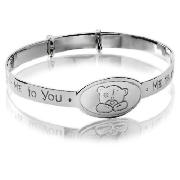 The Me to You expandable bangle comes in a silver colour, featuring the famous face of the Me To You bear. - CLICK FOR MORE INFORMATION