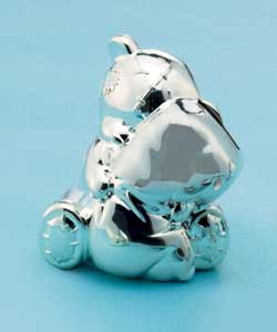 Silver Plated Tatty Teddy; Money Box
