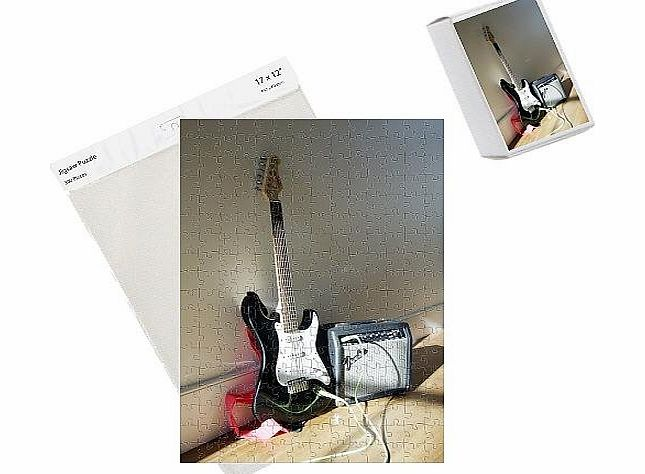 Media Storehouse Photo Jigsaw Puzzle of Electric guitar and amplifier product image