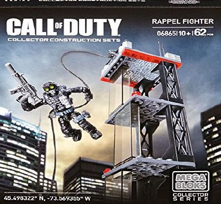 Mega Bloks Collector Series Toy - Call of Duty Playset - Rappel Fighter - Construction Set