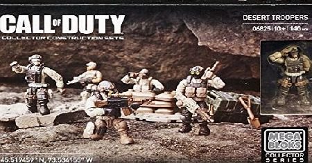 Mega Bloks Toy - Call of Duty - Desert Troopers - Collector Construction 146 Piece Playset