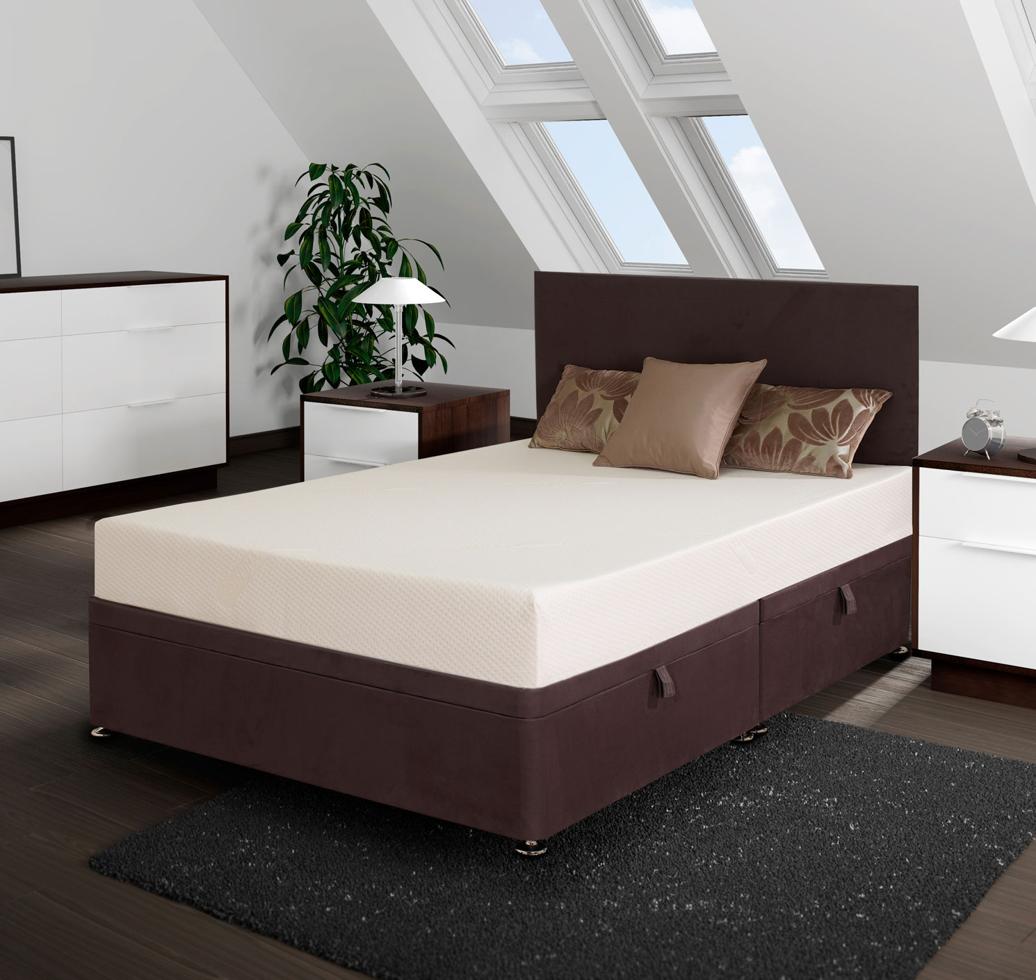 Double ottoman bed for Small double divan bed with memory foam mattress