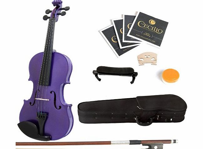4/4MV-Purple+SR Size 4/4 Acoustic Violin - Purple