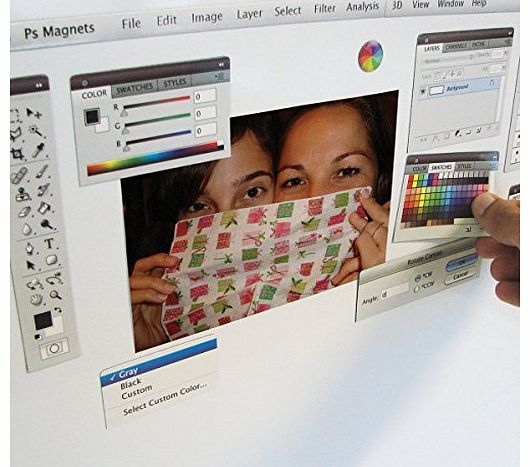 PHOTO EDITING SOFTWARE MAGNET KIT - Collection of 13 Fridge / Office Magnets