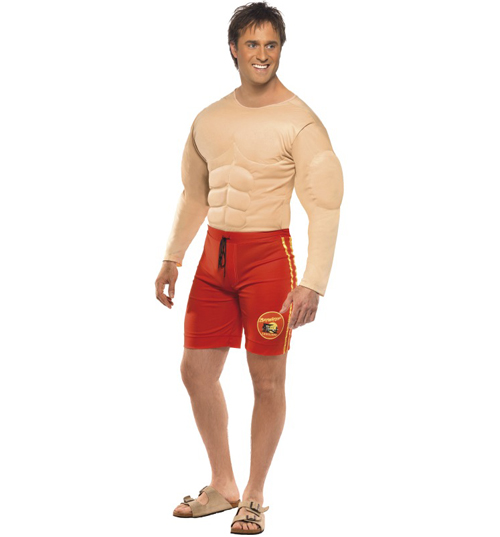 mens Baywatch Lifeguard Fancy Dress Costume product image