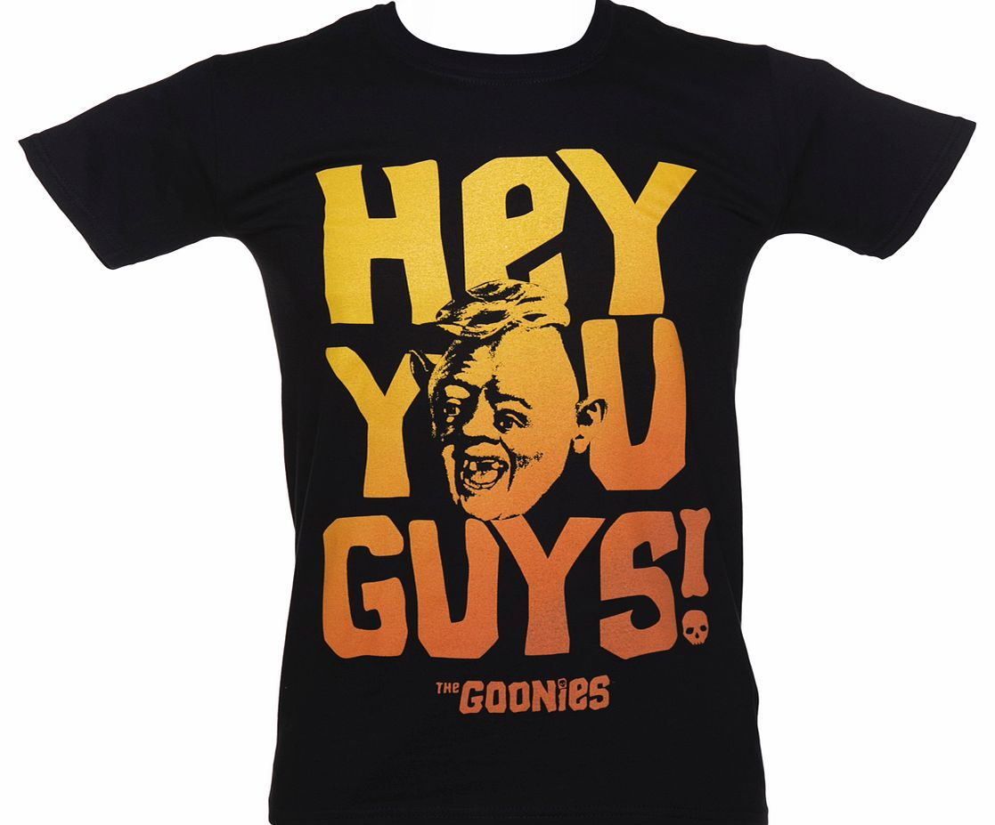Black Hey You Guys The Goonies T-Shirt