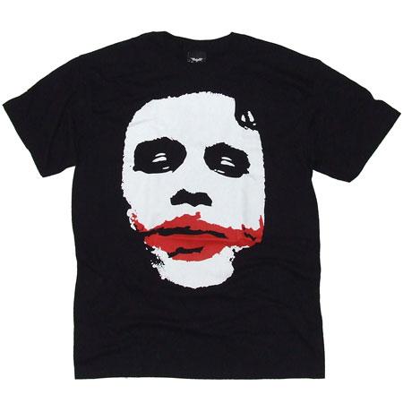 Mens Clothing Batman Joker Big Face Black T-Shirt
