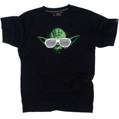 Chunk Star Wars Yoda West Black Mens T-ShirtHow cool does Yoda look