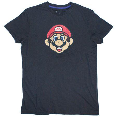 shirts mens clothing joystick junkies super mario face charcoal t s