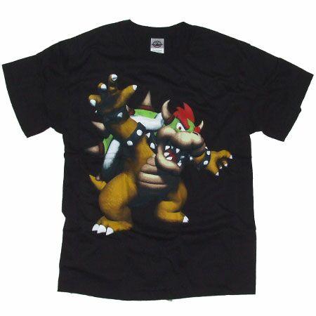 Men`s Clothing Super Mario Bros 3D Bowser Black T-Shirt