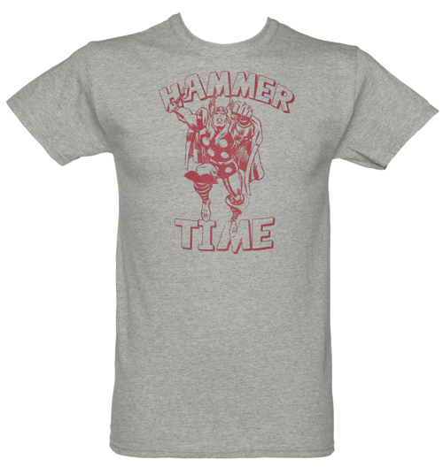 Mens Grey Marl Mighty Thor Hammer Time product image