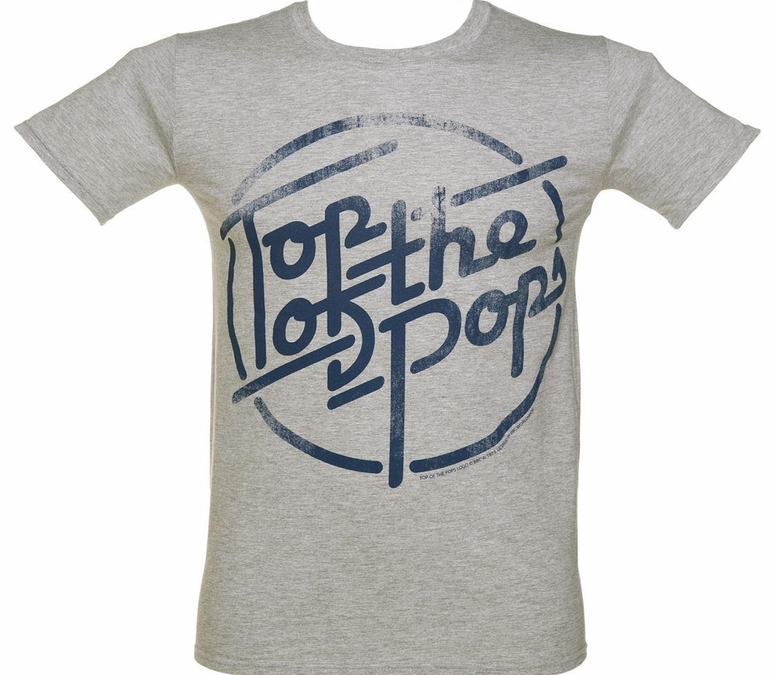 Mens Grey Marl Top Of The Pops Logo T-Shirt product image
