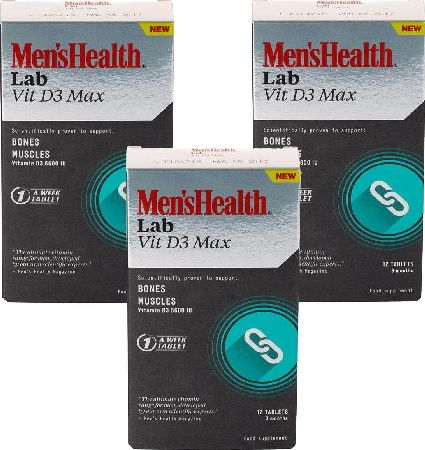 Men`s Health, 2102[^]0107348 Mens Health Vit D3 Max 12 Tablets - 9 Month Supply