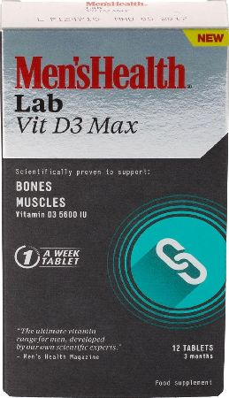 Men`s Health, 2102[^]0107135 Mens Health Vit D3 Max 12 Tablets 3 Month Supply