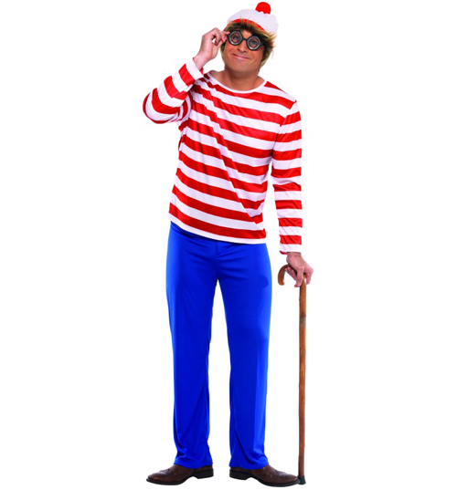 Mens Wheres Wally Fancy Dress Costume product image