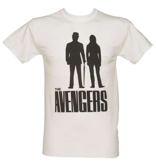 Mens White Avengers Silhouette T-Shirt product image