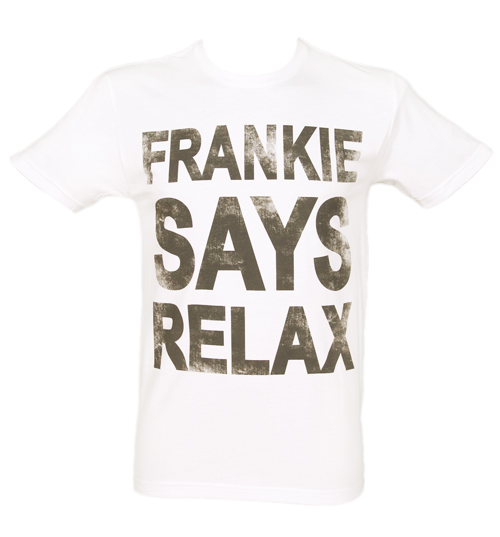 Mens White Frankie Says Relax T-Shirt product image