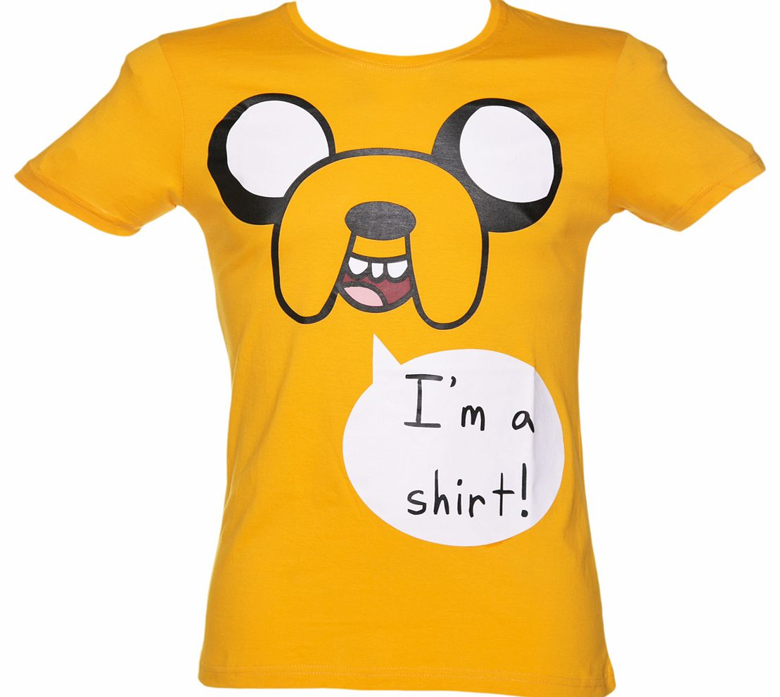 Mens Yellow Adventure Time Jake Im A Shirt product image