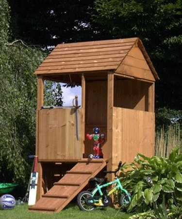 Mercia Garden Products Lookout Wooden Playhouse