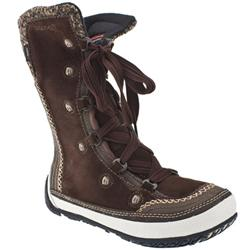Female Puffin Lace High Leather Upper Casual in Brown, White and Purple
