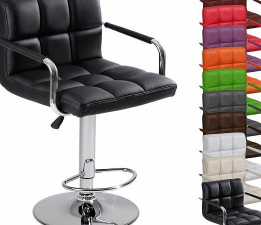 LBHK03 Single Bar stool with Armrest DIFFERENT COLOURS (Black)