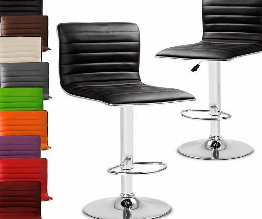 LBHK05 Two Bar Stools DIFFERENT COLOURS (Black)