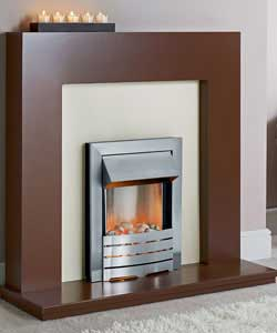 Chocolate Electric Fire Suite