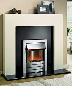 Ivory Electric Fire Suite