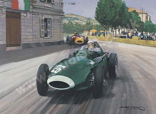 Michael Turner 1957 Grand Prix Of Pescara Stirling Moss