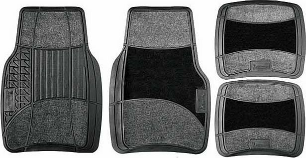 Rubber and Carpet Set of 4 Car Mat Set