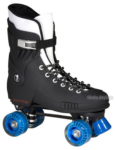 Raptor Quad Roller Skates - Black - Size UK5