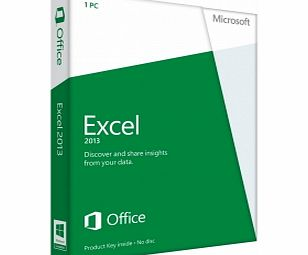 MICROSOFT Excel 2013 Licence Card 1 User (PC)