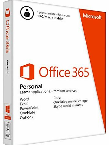 Office 365 Personal - 1 User - 1 Year Subscription (PC/Mac)