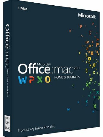 Office for Mac Home and Business 2011, Licence Card, 1 User