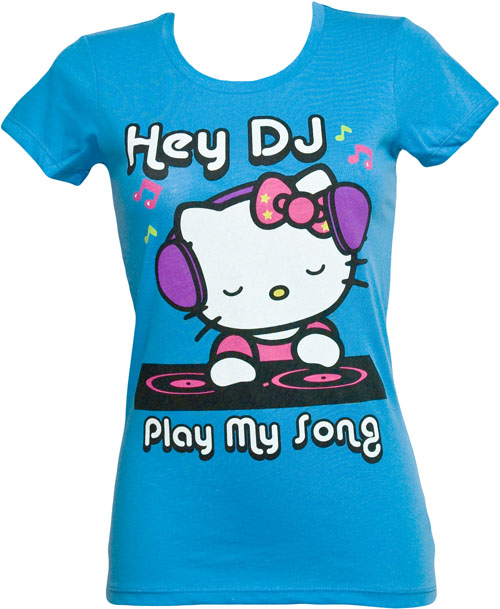Mighty Fine DJ Hello Kitty Ladies T-Shirt from Mighty Fine