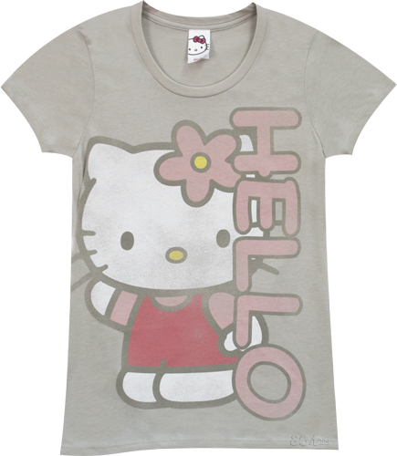 Mighty Fine Hello Goodbye Ladies Hello Kitty T-Shirt from Mighty Fine