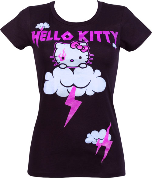 Mighty Fine Ladies Hello Kitty Thunder and Lightning T-Shirt from Mighty Fine