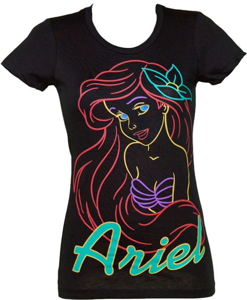 Mighty Fine Neon Ladies Little Mermaid T-Shirt from Mighty Fine