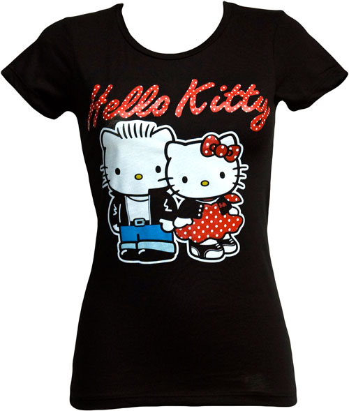 Mighty Fine Rockabilly Hello Kitty Ladies T-Shirt from Mighty Fine