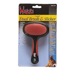 Dual Brush & Slicker for Cats & Dogs (Small)