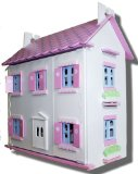 White Hall Wooden Dolls House with Furnitures and Dolls
