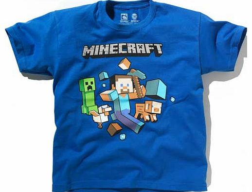 Minecraft Boys Blue T-Shirt - 10-11 Years product image