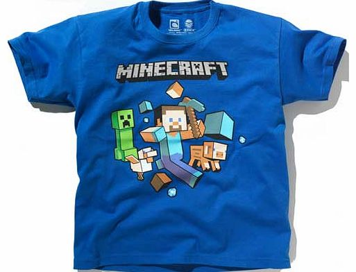 Minecraft Boys Blue T-Shirt - 8-9 Years product image
