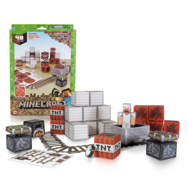 Minecraft Papercraft  Minecart Set 48pc product image Paper Craft Store Online