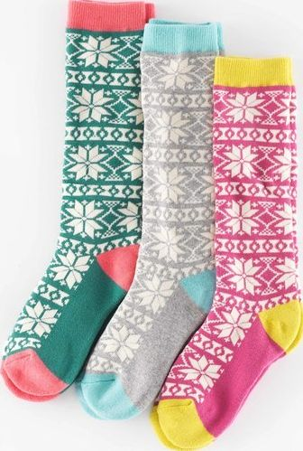 Mini Boden, 1669[^]35134451 3 Pack Knee Socks Fair Isle Mini Boden, Fair