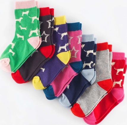 Mini Boden, 1669[^]35005321 7 Pack Sock Box Dog Walk/Stars Mini Boden, Dog