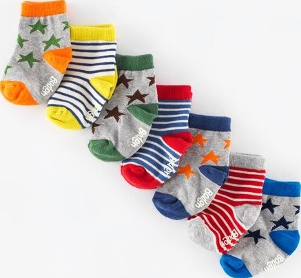 Mini Boden, 1669[^]35006279 7 Pack Sock Box Star/Stripe Mini Boden,
