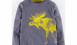 Mini Boden Animal Drawing T-shirt, Slate Moose,Goldfish product image