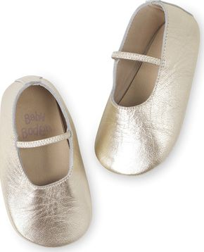 Mini Boden, 1669[^]34849463 Baby Shoes Gold Mini Boden, Gold 34849463