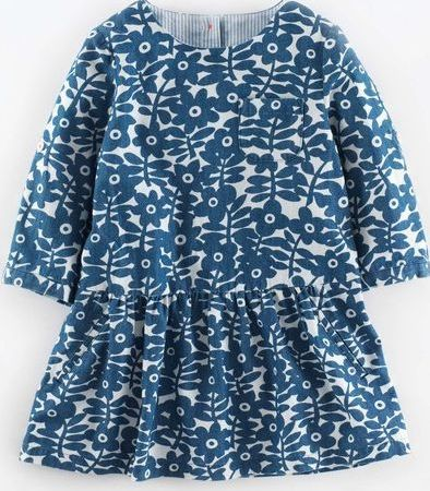 Mini Boden, 1669[^]34992404 Chambray Tunic Mid Denim Flower Stamp Mini